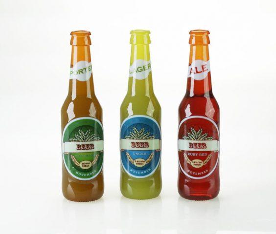 vivid coloured beer bottles- stratasys J750