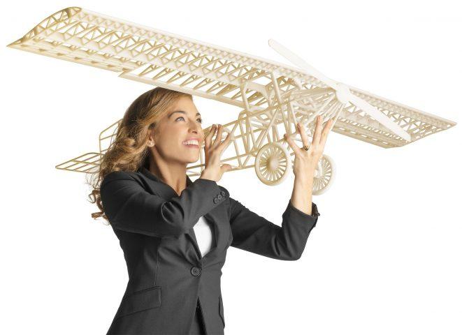 Objet1000 3D printed Ivory plane part